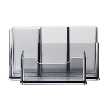 Transparent Acrylic Pen Holder Business Card Case Desk Accessorie Stationery Display Box Pot Storage Products Office Supplie