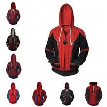 Spiderman hoodies Sweatshirt  Cosplay Costume Men Woman Jacket Hooded Movie Homecoming Far From Home
