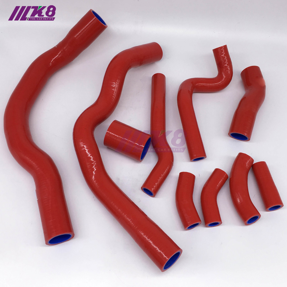 SILICONE RADIATOR <font><b>COOLANT</b></font> <font><b>HOSE</b></font> KIT FOR <font><b>BMW</b></font> MINI COOPER S R52 R53 01-06 (10Pcs)Red/Blue/Black image