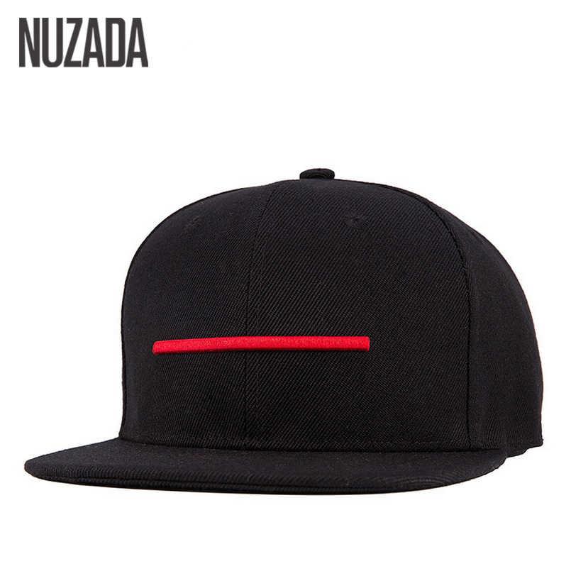 Marcas NUZADA Snapback hueso hombres mujeres gorras de béisbol Calidad Algodón Material sombreros Hip Hop Simple estilo Casual gorra
