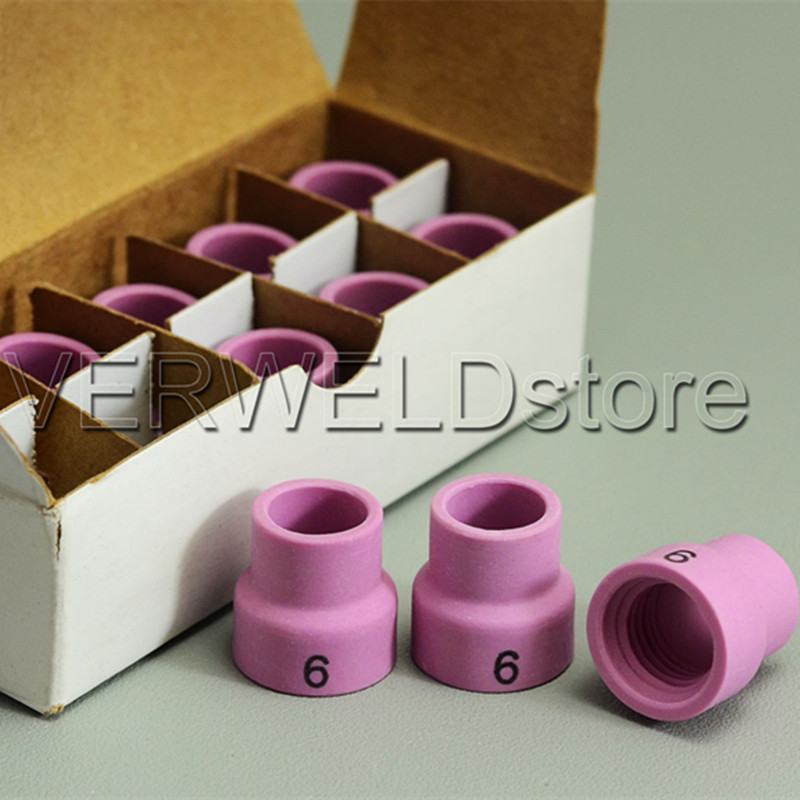 10PK TIG Alumina Ceramic Nozzle Shield Cup 53N27 6# Fit TIG Welding Torch Accessories Consumables WP SR PTA DB 24 Series
