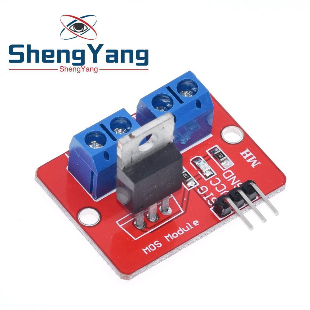 ShengYang 0-24 в топ Mosfet Кнопка IRF520 драйвер MOS модуль для Arduino MCU ARM Raspberry pi 1 шт.