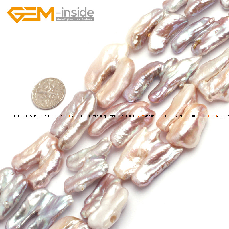 Natural Pearl Beads For Jewelry Making Selectable Type 15inches DIY Jewellery Free Shipping Wholesale Gem-inside