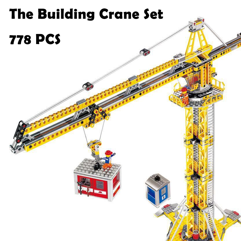 Model Building Blocks toys 02069 the Building Crane Set compatible with lego City Series 7905 Educational DIY toys & hobbies lepin 02069 genuine 778pcs city series the building crane set 7905 building blocks bricks funny toys as boy gift for birthday