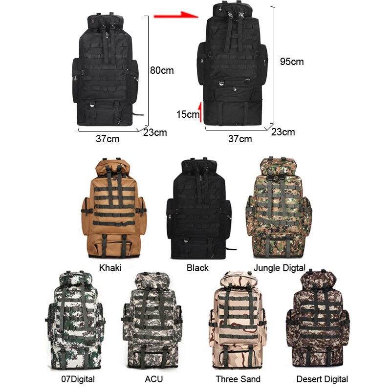 Sacs militaires armée tactique Sac à dos Molle Camping Sac à dos grand voyage sacs à dos randonnée Sac Militaire sport Camo XA304WA - 3