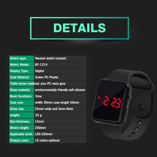 Men Casual LED Sports Watch