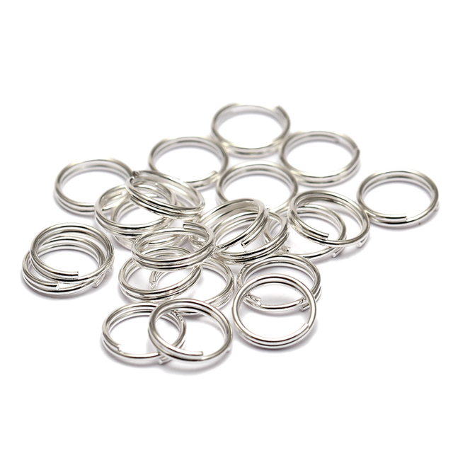 200pcs/lot 5 6 7 8 10 12 14 mm Open Jump Rings Double Loops Gold Color Split Rings Connectors For Jewelry Making 3