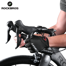 ROCKBROS Men's Half Finger Silicone Gel Cycling Gloves Thickened Pad SBR Shockproof Breathable MTB Bicycle Bike Short Gloves gub endurance cycling gloves bicycle bike fingerless gloves silicone half short finger extra gel gloves double gel vent padding