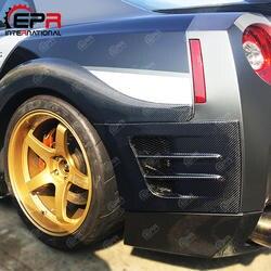 Для Nissan R35 GTR TS Стиль углеродного волокна заднее крыло Бампер Добавить на аксессуары для авто Nissan R35 GT-R тюнинг стайлинга автомобилей