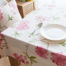 Pastoral Floral Printd paño de tabla cuadrado / Rectangular mantel poliéster / algodón mantel para la boda / comedor manteles lentejuelas