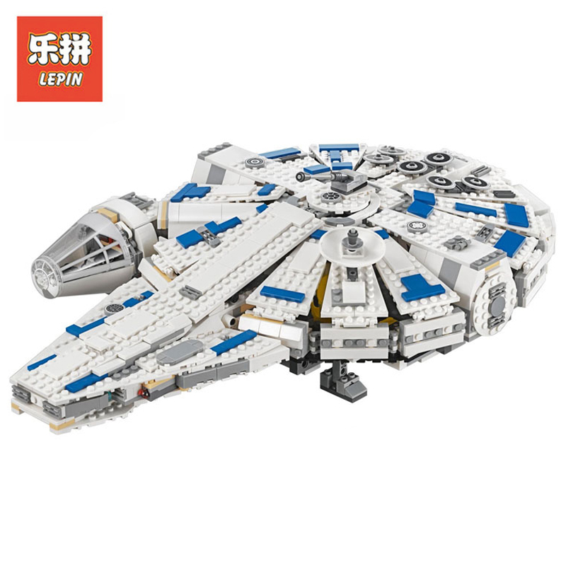 2018 New Lepin 05142 1584Pcs Star Wars Kessel Run Millennium Falcon Set Legoing 75212 Building Blocks Bricks Children Toys Model