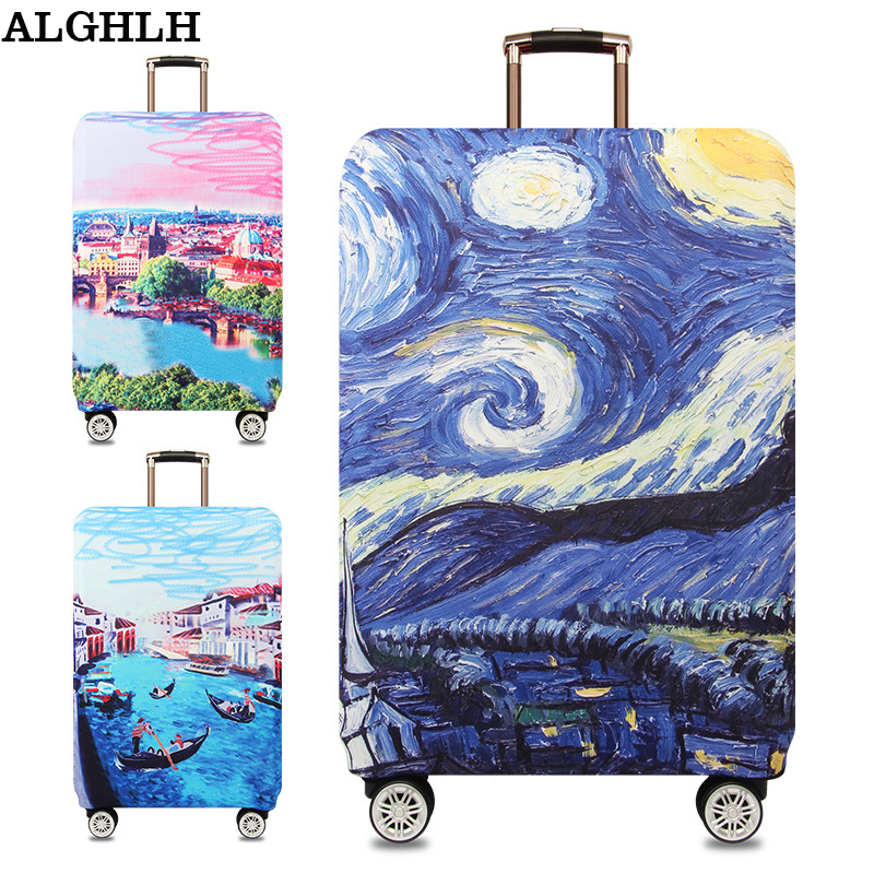 ALGHLH Waterproof Suitcases on wheels Protective Cover Cute Kitty Suitcase Protective Case cover Travel Luggage 18 to 32 inch