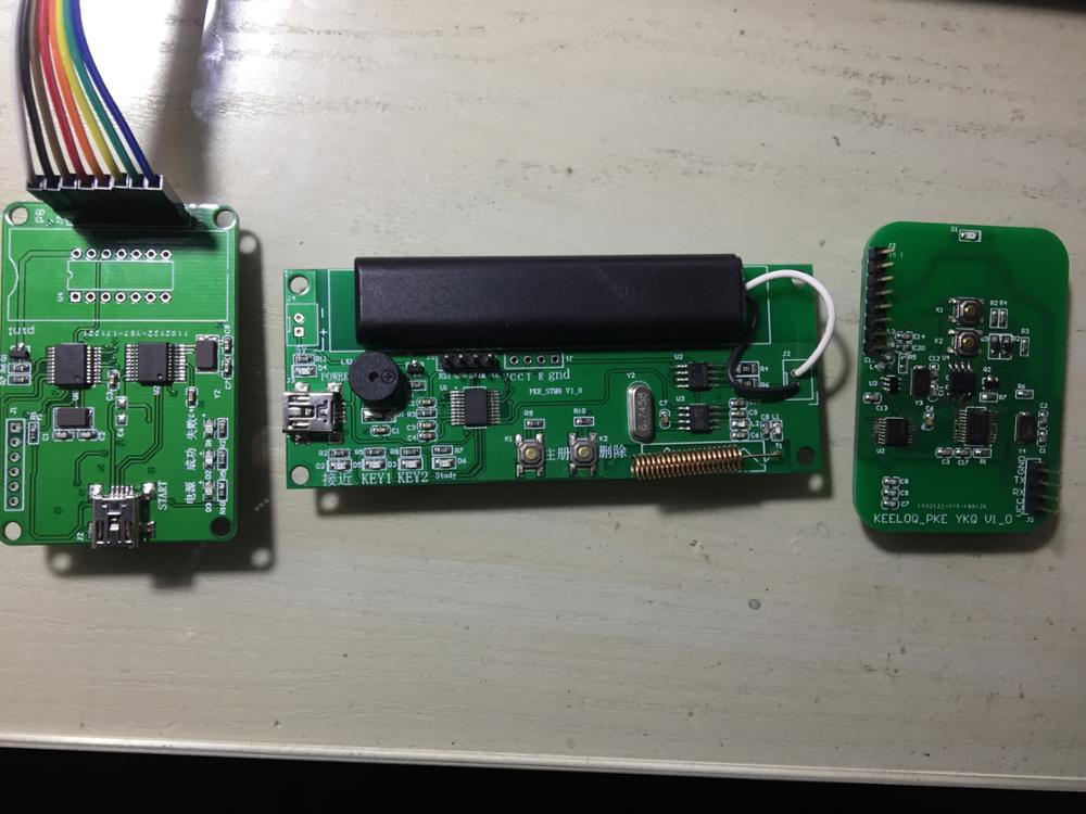 For PKE development board, AS3933 development board, HCS300 scroll code development board, KEELOQ C language w5500 development board the ethernet module ethernet development board