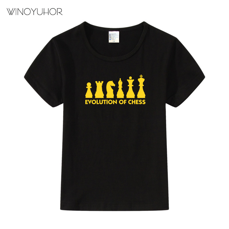 Fashion Print Evolution Of Chess Children T shirts Kids Summer Short Sleeve Tees Boys Girls Casual Tops Baby Clothes in T Shirts from Mother Kids
