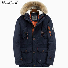 Hot Parka Brand Men Warm Thicken Quality Padded Parka Men Polyester Coat Winter Jacket Mens Thick Parkas Artificial Fur Collar