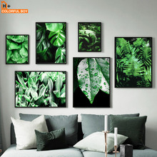 Wall Art Canvas Painting Fresh Green Flower Aloe Tropical Leaves Nordic Posters And prints Pictures For Living Room Decor