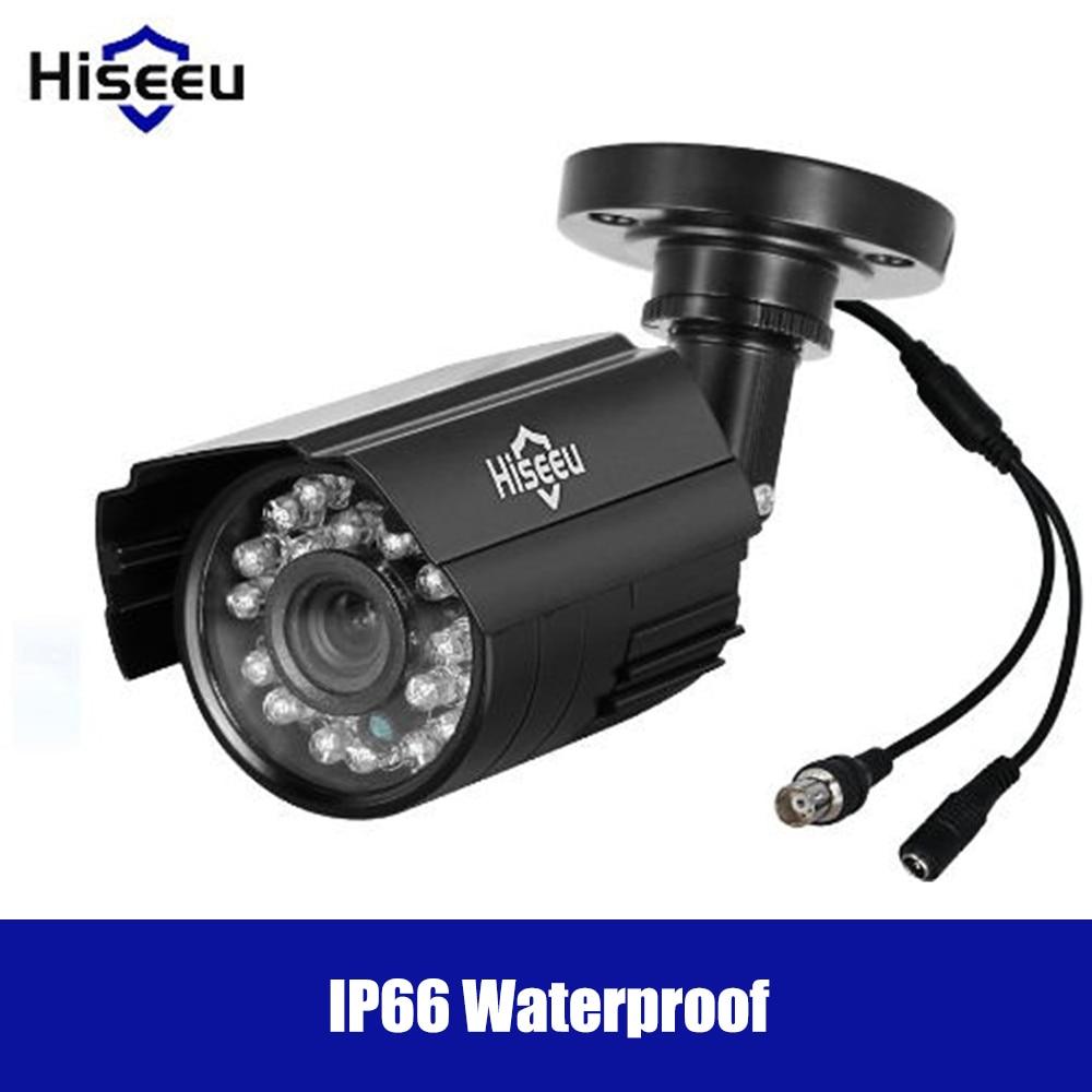 Hiseeu 720P/1080P PAL AHD IP Camera Remote Viewing Motion Detection Surveillance Cctv DVR System Security IP66 Waterproof