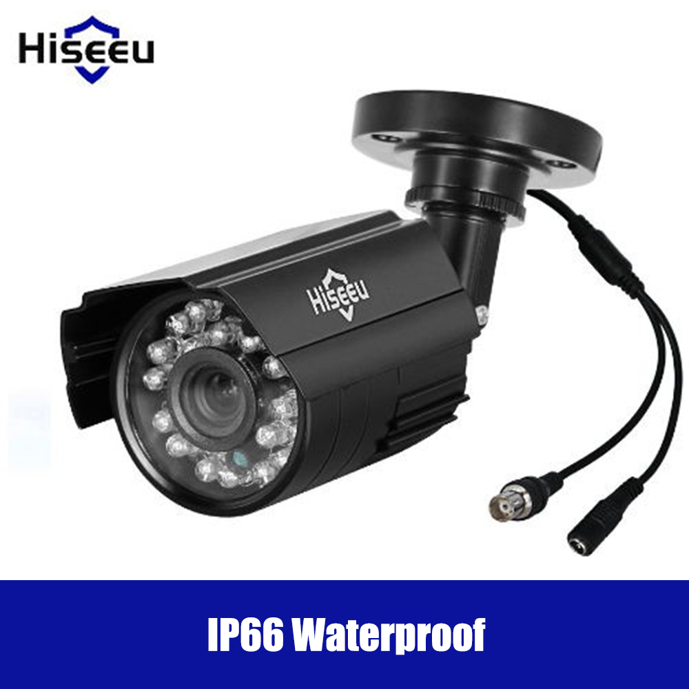 Hiseeu 720P/960P PAL AHD IP Camera Remote Viewing Motion Detection Surveillance cctv DVR system Security IP66 Waterproof