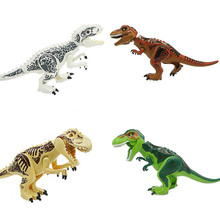 Jurassic Dinosaur World Figures Large Tyrannosaurs Rex Building Blocks Compatible With Children Toys
