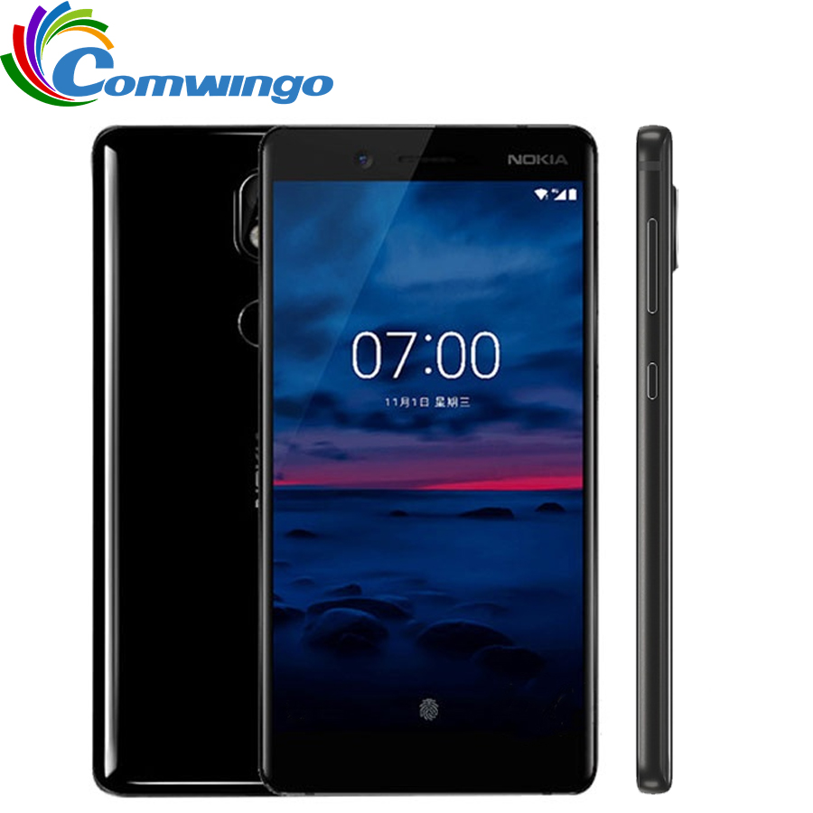 Unlocked Original Nokia 7 64G ROM 16MP Camera Dual Sim 5.2inch Octa Core 4G LTE 3000mAh Android 7.1Smart Mobile Phone