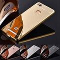Телефон Случаях Для Xiaomi Redmi 3 S/Redmi 3 Pro Зеркало Назад покрытие Алюминий Металлический Каркас Коке Fundas Для Xiaomi Redmi 3 S 3 S случаях