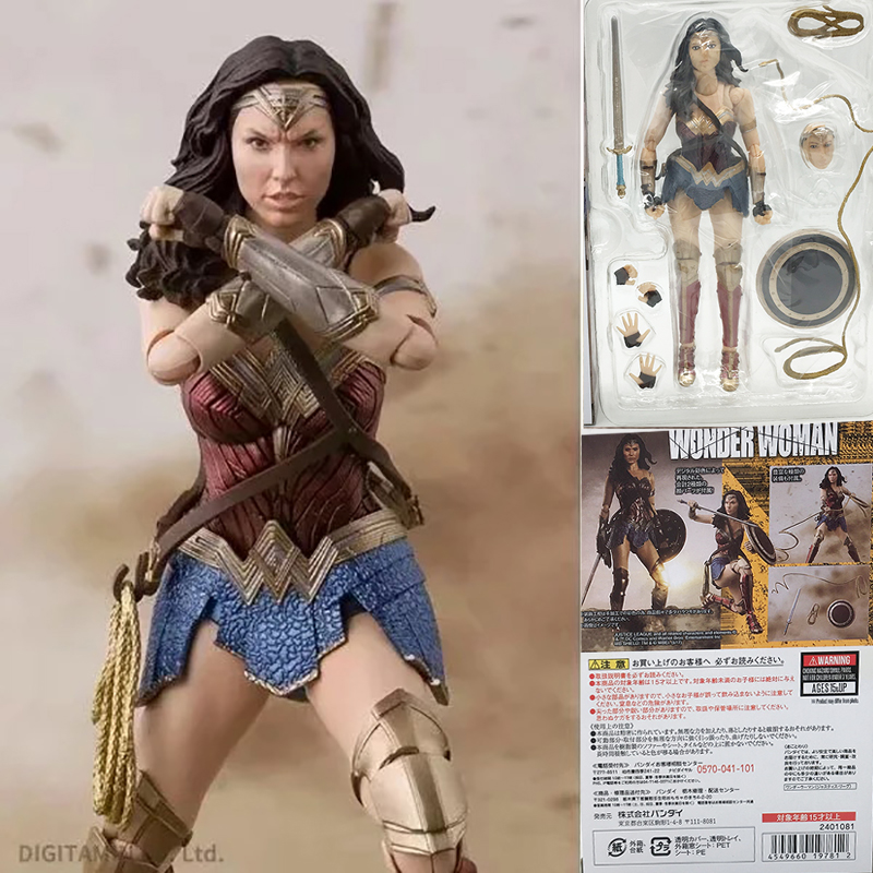 SHF DC Comics Justice League Wonder Woman PVC Action Figure Collection Model Toys Christmas Gift