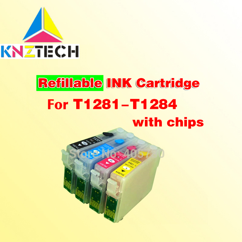 T1281 128 refillable ink cartridge compatible for SX425W SX435 445 <font><b>BX305</b></font> S22 SX125 SX130 SX235W SX420W image