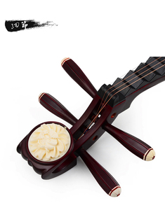 Image 3 - Chinese Lute Pipa National String Instrument Pi pa Children Playing Pipa Hard Wood Surface and Platane Wood Back Bone Flowers
