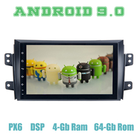 9 IPS PX6 Android 9.0 Car GPS Radio Player for suzuki SX4 2006 2011 with 4+64GB Auto Stereo Multimedia Headunit