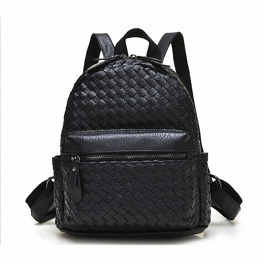 ФОТО Weave Backpack Women Genuine Leather Bag Women Bag Cow Leather Women Backpack Mochila Feminina School Bags for Teenagers LI-1390