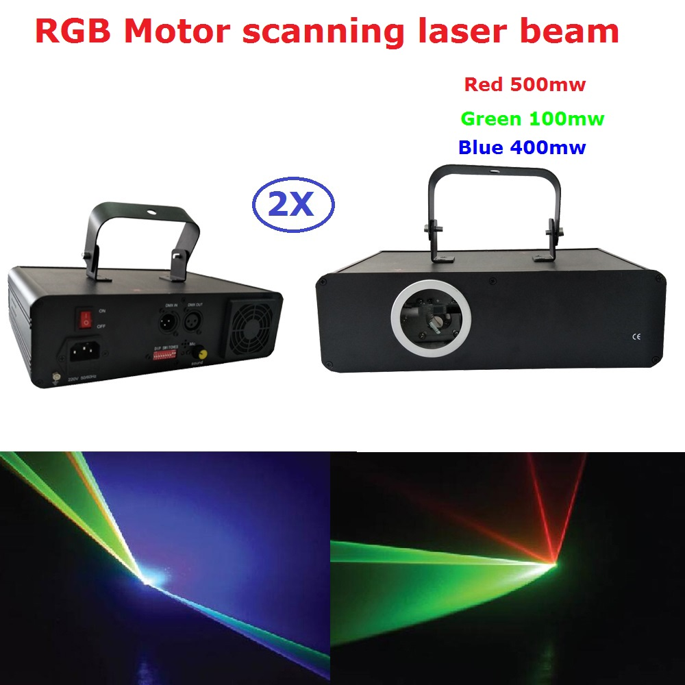 2Pcs/Lot High Quality Stage Laser Light 1W RGB Full Color Beam Laser Light With DMX512 And 60 Kinds of Patterns Fast Shipping
