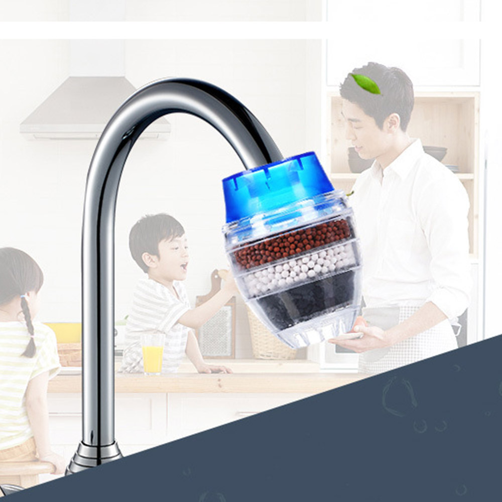 Kitchen Faucet Water Filter Healthy Activated Carbon Water Purifier Heavy Metal Rust Sediment Purifier Suspended Faucet Purifier