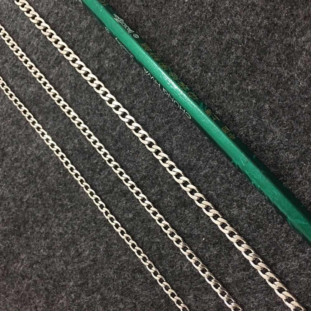 Klasyczne mężczyźni 3.6/5/6/7mm nigdy nie znikną ze stali nierdzewnej 19.5-35 w naszyjnik kubański długi łańcuch mężczyźni Punk Pop Link łańcuszek Collier