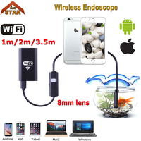 Stardot 8MM Lens Wifi Wireless Endoscope Inspection Camera Waterproof Borescope For Iphone IOS Windows Android 1m