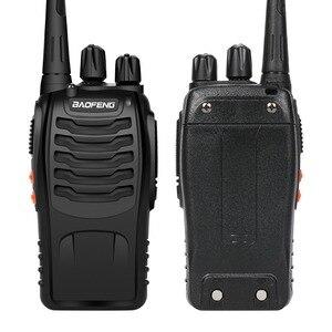 Image 2 - Baofeng BF 888S ווקי טוקי 5W כף יד Pofung bf 888s UHF 400 470MHz 16CH דו כיוונית נייד CB רדיו משלוח חינם