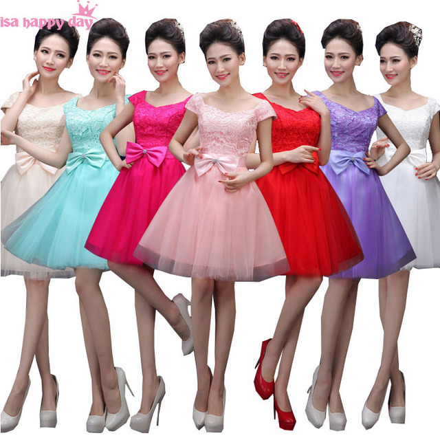 3ec2ca2f9c lilac short lace up back pink champagne bridesmaid fuschia bridesmaids  dresses under 50 purple crepe dress for girls 2017 B3002
