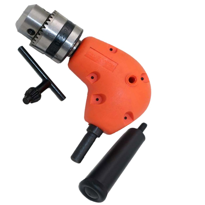 LHX BXY124 Right Angle Drill Attachment 90 Degree Keyless Handle Adaptor Corner Chuck Clamping range 1-10MM a professional right angle drill attachment 90 degree handle adaptor corner chuck clamping range 0 8 10mm extension accessories