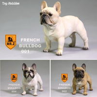 1/6 Scale Realistic Standing French Bulldog Carve Model Resin Animal Dog Pet Model For 12in Action Figure Accessories Toys