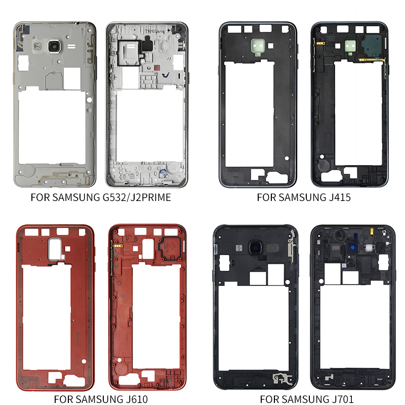 Housing Middle Frame Bezel Replacement Parts For Samsung Galaxy J2 Prime G532 J415 J610 J701 Middle Plate Cover