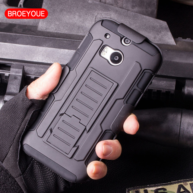 BROEYOUE Case For HTC One M8 M9 Case Future Armor Impact Holster Hard Case For HTC One M8 M9 Mobile Phone Protective Case Cover