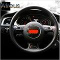 Sline Car Steering Wheel Steering-Wheel Carbon Fiber Stickers For Audi A3 A4 B6 B8 B7 B5 A6 C5 C6 Q5 Q7 A5 TT S LINE Accessories