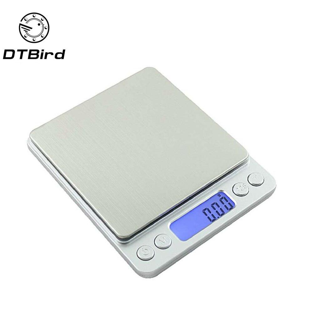 3000g/0,1g Mini portátil electrónica Digital escalas de bolsillo caso Postal cocina de equilibrio de peso Digital 500g /0,01g DT6