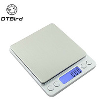 3000g/0.1g Portable Mini Electronic Digital Scales Pocket Case Postal Kitchen Jewelry Weight Balance Digital 500g/0.01g   DT6