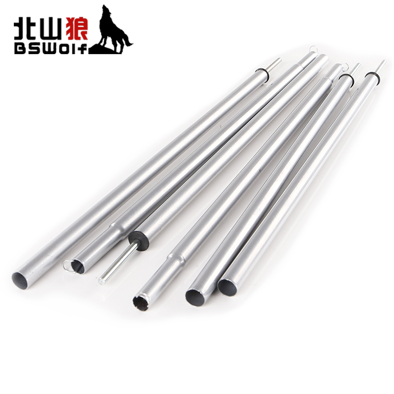 BSWolf 114cm 2pcs/pair Outdoor Camping Tent poles Canopy Rod Tents Extending Door Iron Frame Hallway Rod Tent Accessories