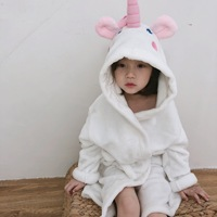 Children Kids Cute Unicorn Pajamas Winter Bathrobe Pyjamas Flannel Hooded Pijama Sets Animal Sleepwear for Girls Boys Sleepwear