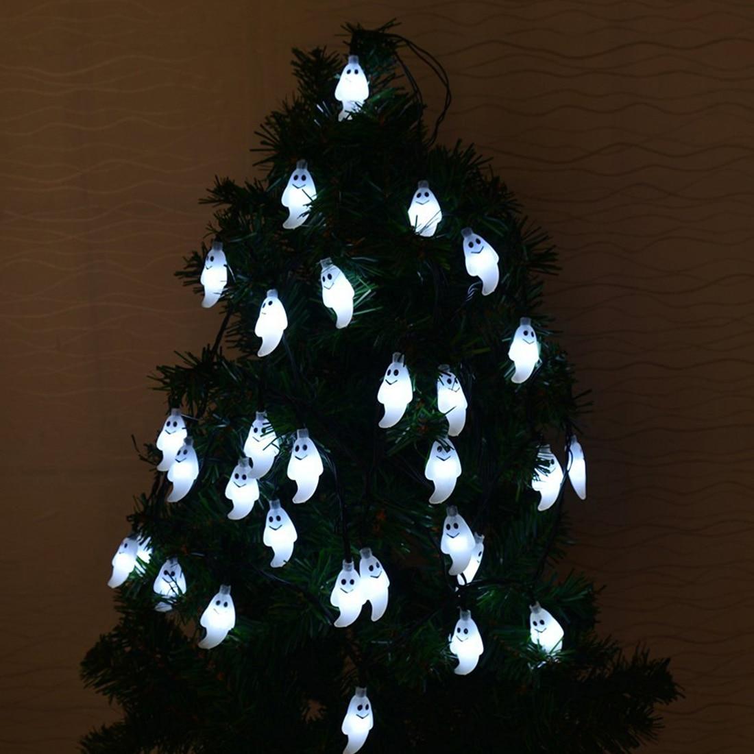 Светодиодный строки фонарики лампа 10 светодиодный 1,5 м Хэллоуин Декор Призрак для DIY домашний бар Открытый вечерние поставки