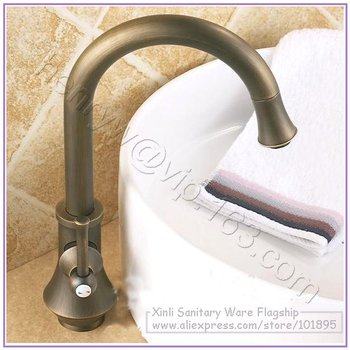 L15798 - Luxury Bronze Color Deck Mounted Hot & Cold Water Mixing Brass Basin Tap