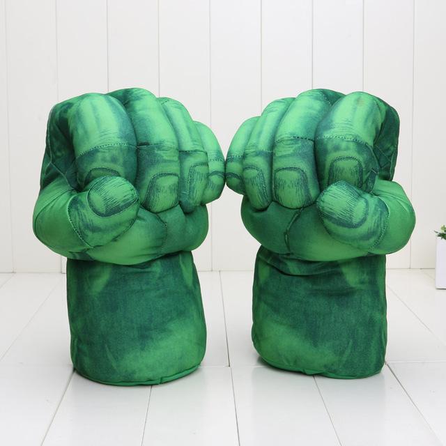 13 ''anime Plush Glove Incrível Hulk homem de Ferro Homem Aranha Mãos Quebra Luvas De Pelúcia Cosplay Realizando Adereços crianças brinquedos de pelúcia