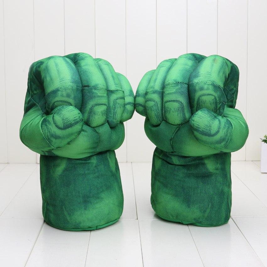 13'' Anime Plush Glove Incredible Hulk Spider Man Smash Hands Plush Gloves Cosplay Performing Props Kids Plush Toys