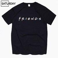 Мужские ТВ друзья веселое Harajuku хлопковые футболки унисекс летние футболки для тренировок женские хип хоп топы бойфренд подарок
